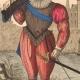 DÉTAILS  03   Document Historique sur Parchemin - Règne de Henri IV de France - 1590 - Guerres de Religion - Mousquetaire et Arquebuse