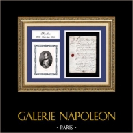 Historical Document - Reign of Napoleon I of France - 1806 - First French Empire | Historical handwritten document dated June 25th, 1806 and Portrait of Napoleon I of France, an original steel engraving drawn by Sandoz