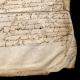 DÉTAILS  01 | Document Historique sur Parchemin - Règne de Louis XIV de France - 1668 - Année de Parution des Fables de Jean de La Fontaine
