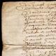 DÉTAILS  02 | Document Historique sur Parchemin - Règne de Louis XIV de France - 1668 - Année de Parution des Fables de Jean de La Fontaine