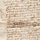 DÉTAILS  03 | Document Historique sur Parchemin - Règne de Louis XIV de France - 1668 - Année de Parution des Fables de Jean de La Fontaine