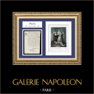 Historical Document - Reign of Napoleon Bonaparte - Consulate - 1803 - The Louisiana Purchase | Historical handwritten document dated May 18, 1803 (28 Floréal, Year XI of the Republic) and Portrait of Napoleon I of France, an original lithograph.