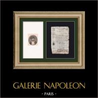 Documento Histórico - Primer Imperio Francés - 1809 - Nizza - Montenotte - Italia - Permiso de Comerciante | Documento original datado 1809 y Retrato de Napoleón Bonaparte