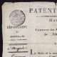 DETAILS  01 | Historical Document - First French Empire - 1809 - Nizza - Montenotte - Italy - License of Merchant