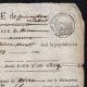 DETAILS  03 | Historical Document - First French Empire - 1809 - Nizza - Montenotte - Italy - License of Merchant