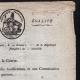 DÉTAILS  03 | Document Historique - Révolution Française - 1798 - Circulaire du Ministre de la Guerre aux Directeurs des Fortifications