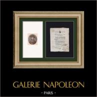 Documento Storico - Rivoluzione Francese - 1801 - 20a Divisione Militare - Scarico Militare per Ragioni Mediche | Documento storico originale datato 1801 ed Ritratto di Napoleone Bonaparte