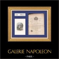 Historisches Dokument - Reisepass - 1780 - Amboise - Herrschaft von Ludwig XVI   Originaldokument von 1780 auf Geripptes Papier und ansicht von das Schloss Amboise