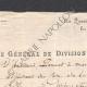 DÉTAILS  07   Guerres Napoléoniennes - 1811 - Artillerie - Général de Division St Laurent - Permission Accordée au Chef de Bataillon
