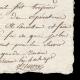 DÉTAILS  05 | Guerres de la Révolution Française - 1796 - 8ème Régiment d'Artillerie - Attestation de Service comme Chef Artificier