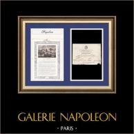 Napoleon - First French Empire - 1813 - Italy - Florence - Housing Authorization of a Military Citizen | Historical Document on laid paper with watermark dated 1813, biography and antique print of Baptiste-Pierre-François Bisson