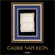 Julimonarchie - Louis-Philippe I - 1836 - Innerer Reisepass für einen Marine-Artillerie-Kapitän | Dokument der zeit auf Papier mit Wasserzeichen (Louis-Philippe I König der Franzosen) datiert 18 Februar 1836