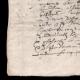 DÉTAILS  03 | Manuscrit - Epoque Louis XIV (1649) | Portrait de Louis XIV (Charles Le Brun)