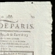 DETAILS  02 | French Revolution - Journal de Paris - Sunday, July 5, 1789 | Portrait of Marianne - National Personification of the French Republic