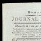 DÉTAILS  01 | Révolution Française - Journal de Paris - Dimanche 12 Juillet 1789 | La Prise de la Bastille - Arrestation de M. de Launay (Jean Dubois)