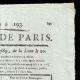 DÉTAILS  02 | Révolution Française - Journal de Paris - Dimanche 12 Juillet 1789 | La Prise de la Bastille - Arrestation de M. de Launay (Jean Dubois)