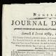 DÉTAILS  01 | Révolution Française - Journal de Paris - Samedi 6 Juin 1789 | Calendrier Républicain - Ventôse