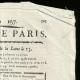 DÉTAILS  02 | Révolution Française - Journal de Paris - Samedi 6 Juin 1789 | Calendrier Républicain - Ventôse