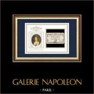Assignat de 25 sols - Révolution Française - 1792 | Portrait de Manon Roland (1754-1793) | Assignat de 25 sols de l'année 1792 (An 4 de la Liberté)