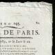 DÉTAILS  02 | Révolution Française - Journal de Paris - Mardi 14 Juillet 1789 | La Prise de la Bastille - Arrestation de M. de Launay (Jean Dubois)