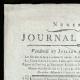 DÉTAILS  01   Révolution Française - Journal de Paris - Vendredi 17 Juillet 1789   Portrait du chanteur Simon Chenard en costume de sans-culotte (Louis Léopold Boilly)