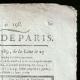 DÉTAILS  02   Révolution Française - Journal de Paris - Vendredi 17 Juillet 1789   Portrait du chanteur Simon Chenard en costume de sans-culotte (Louis Léopold Boilly)