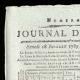 DÉTAILS  01   Révolution Française - Journal de Paris - Samedi 18 Juillet 1789   La Prise de la Bastille - Arrestation de M. de Launay (Jean Dubois)
