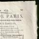 DÉTAILS  02 | Révolution Française - Journal de Paris - Jeudi 4 Juin 1789 | Calendrier Républicain - Germinal