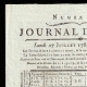 DETAILS  01 | French Revolution - Journal de Paris - Monday, July 27, 1789 | National Motto of France - Fraternity