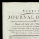 DETAILS  01   French Revolution - Journal de Paris - Tuesday, July 28, 1789   National Motto of France - Equality