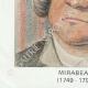 DETAILS  06   Ink stamp - French Revolution - 1793 - 40th Infantry Demi-brigade   Portrait of Honoré-Gabriel Riqueti de Mirabeau (1749-1791)