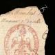 DÉTAILS  02 | Cachet à encre - Napoléon Ier - 1810 - 62ème Régiment de ligne | Portrait de Napoléon (Paul Delaroche)