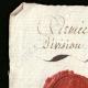 DÉTAILS  01   Sceau de cire - Révolution Française - 1796 - 79ème Demi-brigade d'Infanterie (Armée d'Italie - Division du Levant)   Portrait de Louis Antoine de Saint-Just (1767-1794)