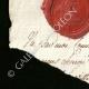DÉTAILS  03   Sceau de cire - Révolution Française - 1796 - 79ème Demi-brigade d'Infanterie (Armée d'Italie - Division du Levant)   Portrait de Louis Antoine de Saint-Just (1767-1794)