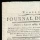 DÉTAILS  01 | Révolution Française - Journal de Paris - Mardi 11 Aout 1789 | Portrait de Louis Marie Marc Antoine de Noailles (1756-1804)