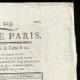 DÉTAILS  02 | Révolution Française - Journal de Paris - Mardi 11 Aout 1789 | Portrait de Louis Marie Marc Antoine de Noailles (1756-1804)