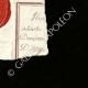DÉTAILS  04   Sceau de cire - Révolution Française - 1796 - 62ème Demi-brigade d'Infanterie (Armée de Rhin-et-Moselle)   Portrait de Marianne - Figure symbolique de la République française