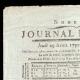 DÉTAILS  01 | Révolution Française - Journal de Paris - Jeudi 29 Avril 1790 | Calendrier Républicain - Prairial