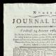 DÉTAILS  01 | Révolution Française - Journal de Paris - Vendredi 14 Aout 1789 | Portrait de Napoléon Bonaparte, Premier Consul (Pascal Simon Gérard)