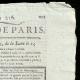 DÉTAILS  02 | Révolution Française - Journal de Paris - Vendredi 14 Aout 1789 | Portrait de Napoléon Bonaparte, Premier Consul (Pascal Simon Gérard)