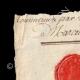 DETAILS  01 | Wax seal - French Revolution - 1794 - 26th Line Infantry Demi-brigade (Général Marceau) | Portrait of Gilbert du Motier de La Fayette (1757-1834)