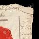 DETAILS  02 | Wax seal - French Revolution - 1794 - 26th Line Infantry Demi-brigade (Général Marceau) | Portrait of Gilbert du Motier de La Fayette (1757-1834)