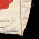 DETAILS  04 | Wax seal - French Revolution - 1794 - 26th Line Infantry Demi-brigade (Général Marceau) | Portrait of Gilbert du Motier de La Fayette (1757-1834)