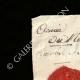 DÉTAILS  01   Sceau de cire - Révolution Française - 1793 - 2ème Bataillon du Calvados (Armée du Nord)   Portrait de Louis Marie Marc Antoine de Noailles (1756-1804)