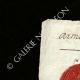 DÉTAILS  01   Sceau de cire - Révolution Française - 1796 - 65ème Demi-brigade (Armée d'Italie)   Portrait de Marianne - Figure symbolique de la République française