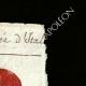 DÉTAILS  02   Sceau de cire - Révolution Française - 1796 - 65ème Demi-brigade (Armée d'Italie)   Portrait de Marianne - Figure symbolique de la République française