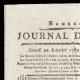 DÉTAILS  01 | Révolution Française - Journal de Paris - Samedi 22 Aout 1789 | Le Serment de Lafayette à la Fête de la Fédération (14 juillet 1790)