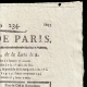 DÉTAILS  02 | Révolution Française - Journal de Paris - Samedi 22 Aout 1789 | Le Serment de Lafayette à la Fête de la Fédération (14 juillet 1790)