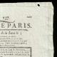DÉTAILS  02 | Révolution Française - Journal de Paris - Mardi 25 Aout 1789 | Portrait de Napoléon Bonaparte, Premier Consul (Baron Antoine-Jean Gros)
