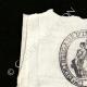DÉTAILS  01   Cachet à encre - Révolution Française - 1794 - 12ème Demi-brigade d'Infanterie de Bataille   Portrait de Camille Desmoulins (1760-1794)